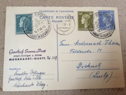 Luxembourg Carte Reponse Murrhardt 1959 - Stamped Stationery