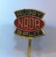 RUGBY - Club NADA, Split Croatia, Vintage Pin Badge, Enamel - Rugby