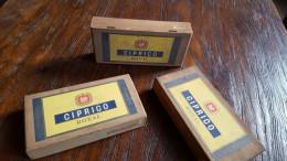 Drie Sigarenkistjes: Ciprico Royal, Vander Elst - Zigarrenkisten (leer)