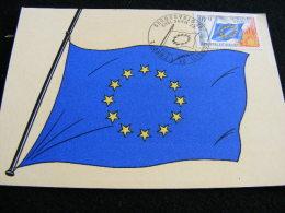 Carte Maximum Conseil De L' Europe 22 Mars 1969 Strasbourg LIOB43 - Cartes-Maximum