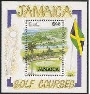 Jamaica/Jamaique: Foglietto, Block, Bloc, Campo Da Golf, Golf Course, Cours De Golf - Golf