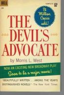 Roman En Anglais:   THE DEVIL'S AVOCATE.     Morris L. WEST.     1960. - Romans