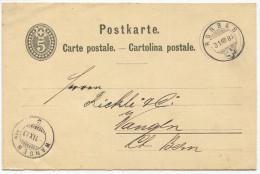 1299 - RORBAS 31 VIII 83 Auf Ganzsachen-Postkarte Nach Wangen A.A. - Entiers Postaux