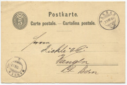 1299 - RORBAS 31 VIII 83 Auf Ganzsachen-Postkarte Nach Wangen A.A.
