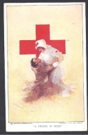 """Croix Rouge - """" A Friend In Need """" - Guerre 1914-18"""