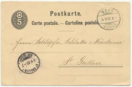 1300 - WALD 4.V.82 Auf Ganzsachen-Postkarte Nach St. Gallen