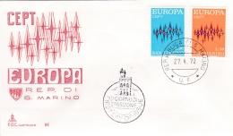 San Marino  1972 FDC Europa CEPT (G84-31) - 1972