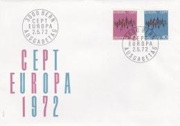 Switzerland 1972 FDC Europa CEPT (G84-31) - 1972