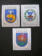 Lietuva Litauen Lituanie Litouwen Lithuania 2002 MNH # Mi. 786/8 Town Arms. - Lithuania