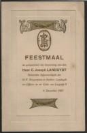 RUMST * FEESTMAAL * C. JOSEPH LANDUYDT * N.V. BRIQUETERIES ET ATELIERS LANDUYDT * 1927 * 18.50 X 12 CM - Menus