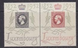 Luxemburg 1952 Centilux 2v Se Tenant ** Mnh (27811) - Ongebruikt