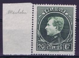 Belgium OBP Nr 290B  Darkgreen Mi Nr 263 IIb  Sheetmargin  MH/* - Belgique