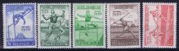Belgium OBP Nr 827 - 831   MH/*  1950  Very Light Hinged