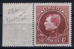 Belgium OBP Nr 291 A MNH/**/postfrisch/neuf   Sheet Margin 1929 - Belgique