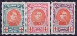 Belgium OBP Nr 132 - 134   MH/*  1915