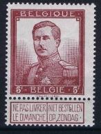 Belgium OBP Nr 122   MH/* - 1912 Pellens