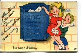 SAINT-ANNE-d'AURAY (56) - Carte Souvenir Avec Dépliant Sortant De La Boîte Aux Lettres - Sainte Anne D'Auray