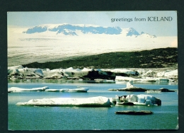 ICELAND  -  Vatnajokull  Glacier Lagoon  Unused Postcard - Iceland