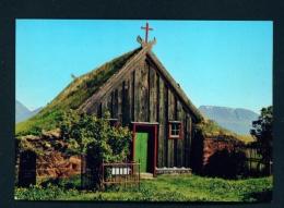 ICELAND  -  Skagafjorour  Old Church  Unused Postcard - Iceland