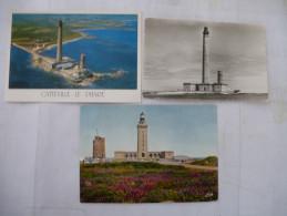 CAP FREHEL Et GATTEVILLE (50) PHARES - LOT De 3 CPM - Voir Les Scans Recto-verso - Lighthouses