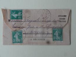Aff Multiple Sur Lettre Lacaune Pour Mr Thiers Tissus En Gros St Affrique Aveyron 1919 - 1877-1920: Semi Modern Period