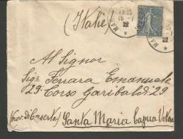 SPFR10---STORIA POSTALE, ,,  MARSEILLE---SANTA MARIA CAPUA VETERE,  ITALIA, , ITALIA, - Storia Postale