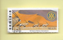 TIMBRES - STAMPS - NAMIBIE / NAMIBIA - 2005 - FAUNE -  100 ANS ROTARY INTERNATIONAL - TIMBRE OBLITÉRÉ - Namibie (1990- ...)