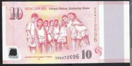 Singapore 10 Dollar 2015 Pnew ..regardless Of Race,language ...a UNC - Singapour