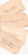 DOLHAIN & GOE  Réunion  De 4 Cartes De Visite  Mülkens  Lemoine & Mossay  De Dolhain & Smets ( Dolhain Vélo) De Goé - Cartes De Visite
