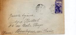 ITALIE ENVELOPPE DU 16 JANVIER 1951 DE CANALE POUR BOULOGNE - 6. 1946-.. Repubblica
