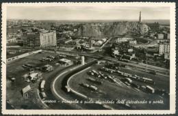 GENOVA - Piazzale E Pista Elicoidale Dell'Autostrada E Porto - Cartolina Viaggiata Anno 1954 - Piccola - Come Da Scans. - Genova (Genoa)