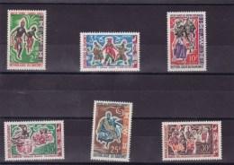 DAHOMEY : Danses Folkloriques : Y&T : 205** à 210** - Benin – Dahomey (1960-...)