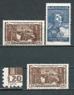 Poland 1953, MiNr 805-806 + 805 With Non Cataloged Error (*) Mint / Unused, No Gum; Nicolaus Copernicus, Astronomy - Ungebraucht