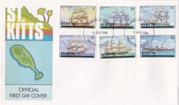 Saint Kitts FDC 1980 Ships  (L77-14) - Ships