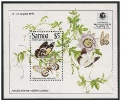 Samoa: Foglietto, Block, Bloc, Farfalla, Papillon, Butterfly, Passiflora Caerulea - Papillons