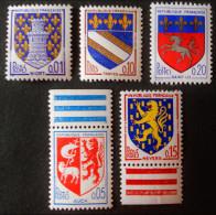 ARMOIRIES DE VILLES 1962/66 - NEUFS ** - YT 1351A + 1353/54 + 1468 + 1510 - Unused Stamps