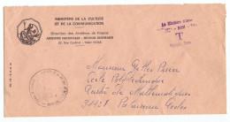 LETTRE SIMPLE TAXE DOM MINISTERE DE LA CULTURE ARCHIVES SECTION OUTRE MER ET DE LA COMMUNICATION  - 2 Scans - Marcofilie (Brieven)