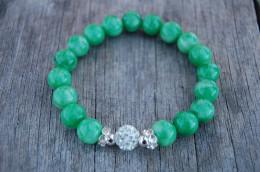 Jade Gemstone 10mm Beads Bracelet,Stretch Bracelet,Spirituality,Prayer,Good Luck Bracelet,Yoga,Protection,Man,Woman - Bracelets
