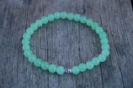 Jade Gemstone 6mm Beads Bracelet,Stretch Bracelet,Spirituality,Prayer,Good Luck Bracelet,Yoga,Protection,Man,Woman - Bracelets