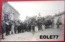 54 - Carte Photo - VILLEY Saint Etienne - Cafe Francais - Gregoire - Devanture - Manifestation - Fete - Cavalcade - France