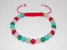 Multi Color Gemstone Shamballa Bracelet,8mm Beads,Man,Woman,health,Healing,Relieve,Protection,Meditation,Yoga,Boho,Shamb - Bracelets