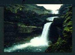 ICELAND  -  Ofaerufoss Waterfall  Unused Postcard - Iceland