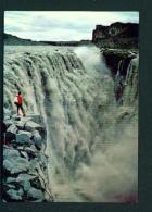 ICELAND  -  Dettifoss Waterfall  Unused Postcard - Iceland