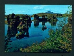 ICELAND  -  Lake Myvatn  Lava Formations  Unused Postcard - Iceland