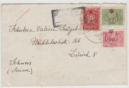 Tur052 /Zensierter Brief In Die Schweiz 1916 - Covers & Documents