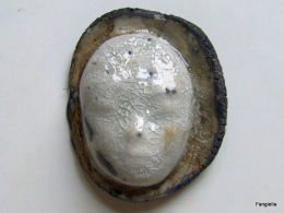1 Cabochon Visage En Céramique Raku écru Beige Noir Fabrication Artisanale  Une Pièce Ethnique Unique à Décliner à Votre - Perles