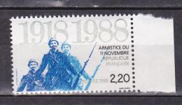 N° 2549 70ème Anniversaire De L´Armistice De 1918: 1 Timbre Neuf Bord De Feuille - France
