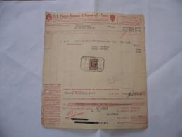 FATTURA S.A. PRODOTTI ALIMENTARI ARRIGONI TRIESTE 1939 - Italia