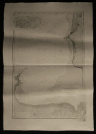 ( Normandie Manche  ) Carte Marine DE CANCALE A BRICQUEVILLE Baie Du Mont Saint-Michel Iles Chausey 1892 - Nautical Charts