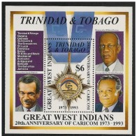 Trinidad & Tobago: Foglietto, Block, Bloc, Comunità Economica, Economic Community, Communauté économique - Trindad & Tobago (1962-...)